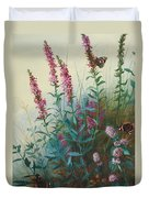 Purple Loosestrife And Watermind Duvet Cover