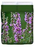 Purple Loosestrife Duvet Cover