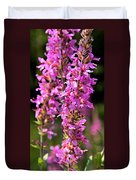 Purple Loosestrife Tall Duvet Cover