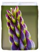Purple Lupine Macro Duvet Cover
