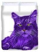 Purple Maine Coon Cat - 3926 - Wb Duvet Cover
