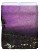 Purple Meadow Duvet Cover