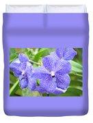Purple Mokara Orchid Duvet Cover