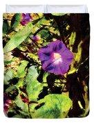Purple Morning Glory Duvet Cover