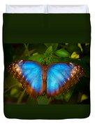 Purple Morpho Butterfly Duvet Cover
