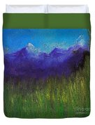 Purple Mountains By Jrr Duvet Cover