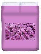 Purple Mums Duvet Cover
