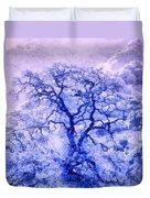Purple Oak Tree Dream  Duvet Cover