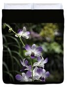 Purple Orchid Flower Inside The National Orchid Garden In Singapore Duvet Cover