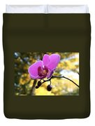Purple Orchid In September Sun Duvet Cover