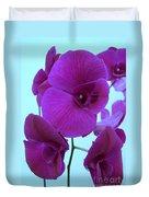 Purple Orchids 3 Duvet Cover