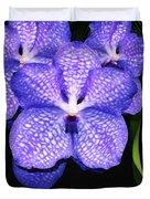 Purple Orchids - Flower Art By Sharon Cummings Duvet Cover
