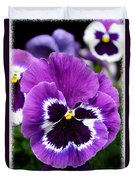 Purple Pansy Close Up Duvet Cover