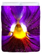 Purple Pansy Detail Duvet Cover