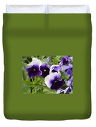 Purple Pansy Melody Duvet Cover