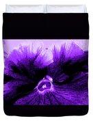 Purple Pansy Rising Duvet Cover