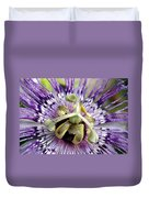 Purple Passion Flower Close Up  Duvet Cover