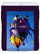 Purple People Eater And Friend Duvet Cover