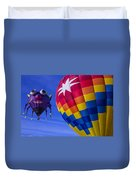 Purple People Eater Rides The Wind Duvet Cover