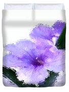 Purple Petunia Duvet Cover