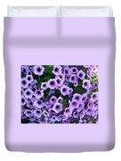 Purple Petunias Duvet Cover
