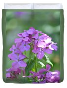 Purple Phlox Duvet Cover