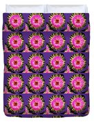 Purple Pink Flower Pattern Decoration Background Designs  And Color Tones N Color Shades Available F Duvet Cover