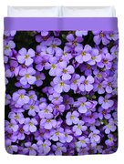 Purple Rockcress Duvet Cover