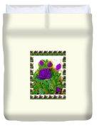 Purple Roses From The Garden 2 Duvet Cover