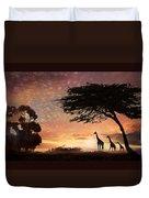 Purple Safari Sunset Duvet Cover