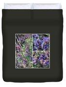 Purple Sage Collage Duvet Cover