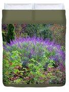 Purple Salvia In The Garden Duvet Cover