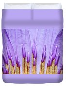 Purple Spires Duvet Cover