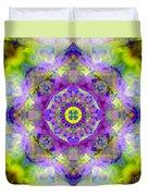 Purple Star Yantra Mandala Duvet Cover