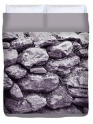 Purple Stone Wall Duvet Cover