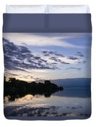 Purple Sunrise Clouds Duvet Cover