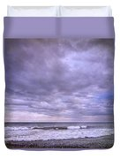 Purple Sunset At The Beach Duvet Cover