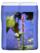 Purple Swamp Flower Duvet Cover