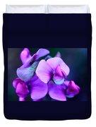 Purple Sweet Peas Duvet Cover