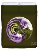 Purple Swirl Orb Duvet Cover