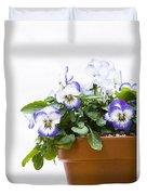 Purple Swirl Violas Duvet Cover