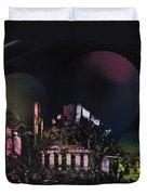 Purple Temple Duvet Cover