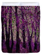 Purple Trees Duvet Cover