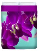 Purple Trio - Orchids Duvet Cover