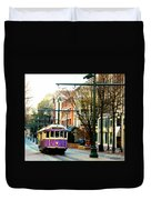 Purple Trolley Duvet Cover