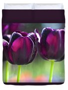 Purple Tulips Duvet Cover by Heiko Koehrer-Wagner