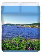 Purple Vetch Overlooking Rocky Harbour-nl Duvet Cover