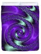 Purple Vortex Duvet Cover