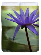 Purple Water Lily In The Shade Duvet Cover
