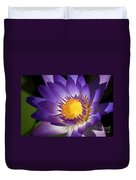 Purple Waterlily Duvet Cover